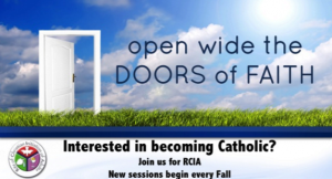 Are you interested in becoming Catholic?