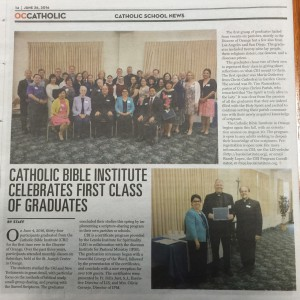 EXTRA – EXTRA – FATHER TIM RAMAEKERS MAKES THE PAPER!