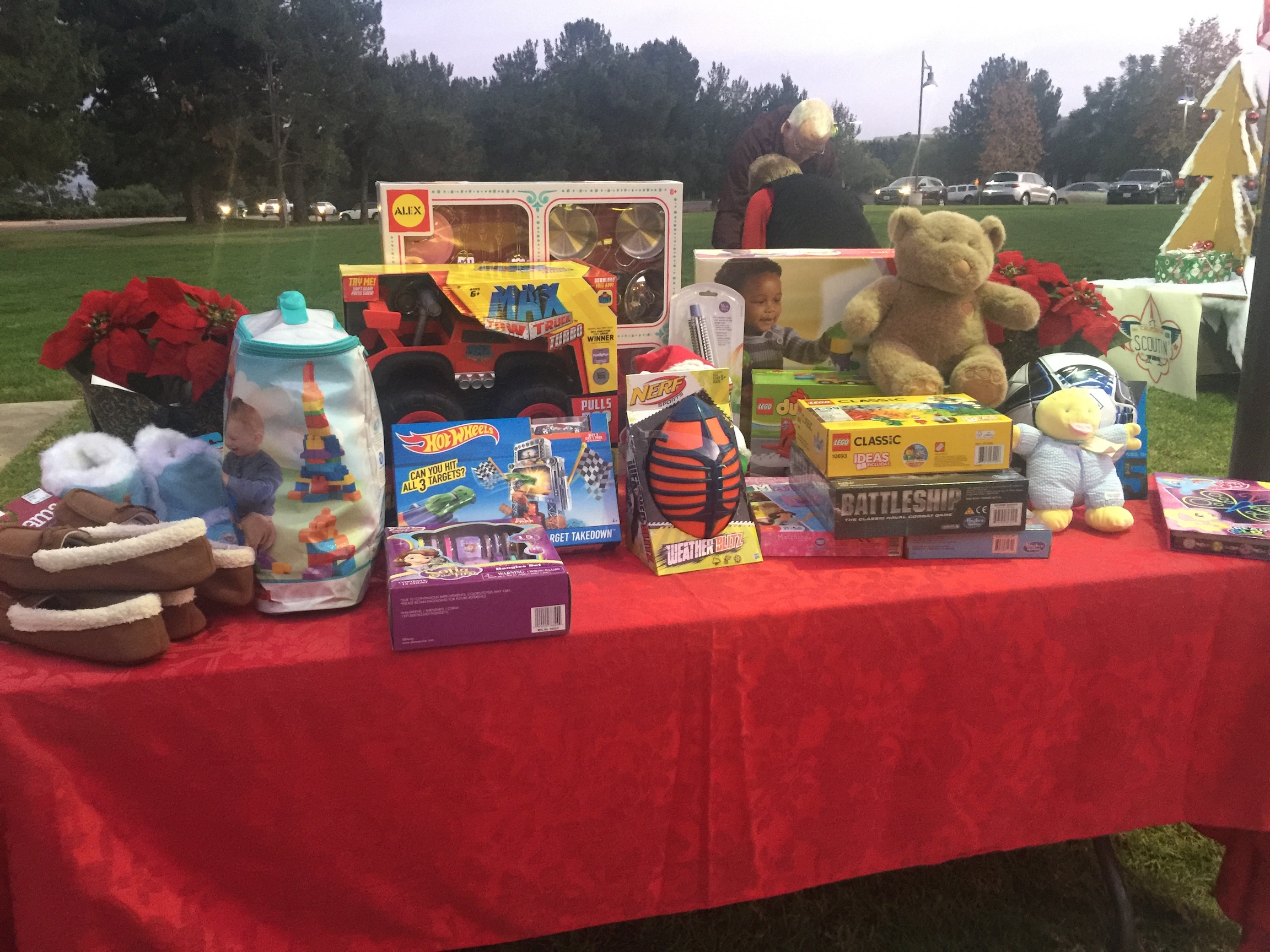 Hands Across the County - Christmas gifts for families in need collection