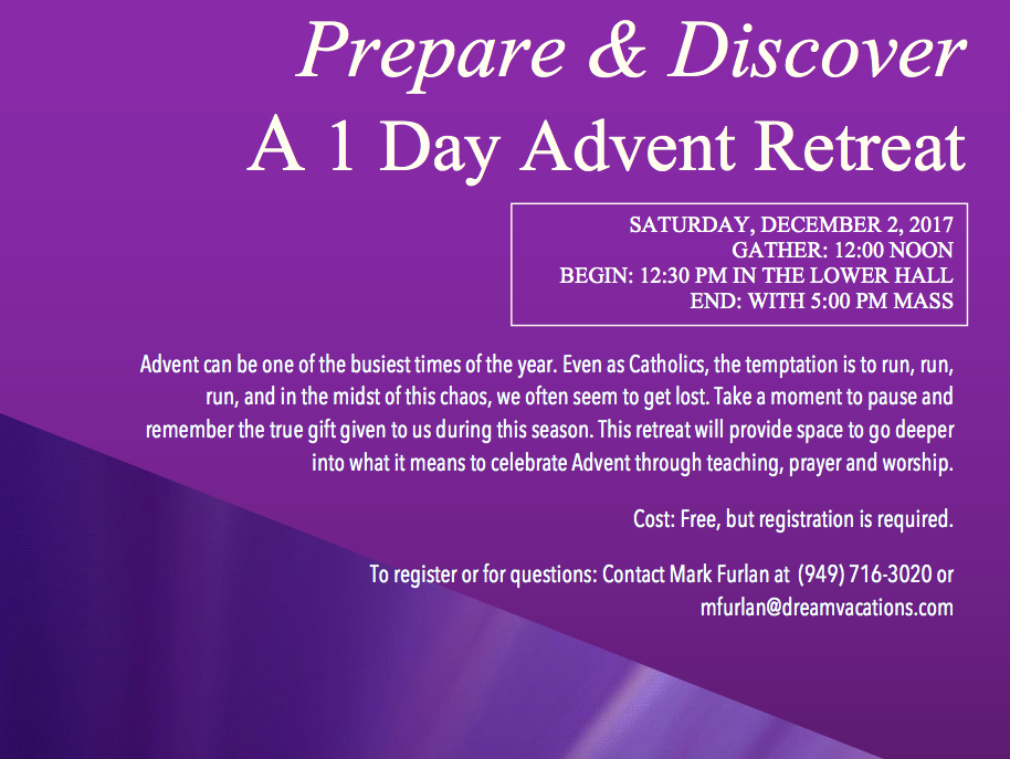 Prepare and Discover  -  A 1 Day Advent Retreat