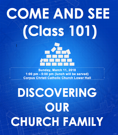 Come and See (Class 101) - Discovering Our Church Family