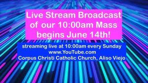 We Are Live Streaming the 10AM Mass!